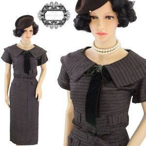 1940'S UTILITY VINTAGE SHIRT DRESS